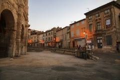Arène et Roman Amphitheatre Photographie stock libre de droits