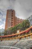 Arène intérieure de tauromachie avec des appartements autour Images libres de droits