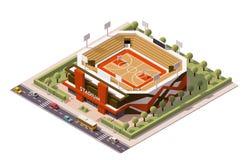Arène isométrique de basket-ball de vecteur Photographie stock libre de droits