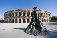 Arène Nîmes France Photos libres de droits