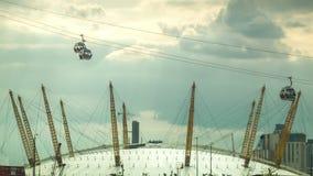 Arène O2 et la compagnie aérienne d'émirats, Londres banque de vidéos