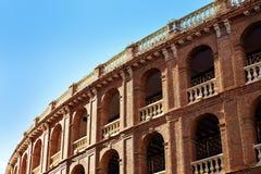 Arène Plaza de Toros de Valence dans la rue de Xativa Images libres de droits