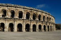 Arène romaine à Nîmes France Photographie stock libre de droits