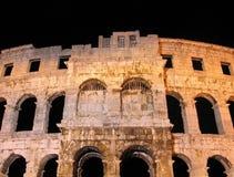 Arène romaine antique dans les Pula, Croatie Images stock