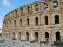 Arène romaine en Tunisie Image libre de droits
