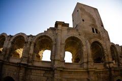 Arène romaine historique dans Arles Images libres de droits