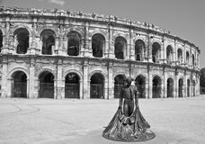 Arènes de Nîmes Arkivbilder