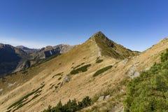 Arête de montagne dans le Tatras occidental en automne Photo stock