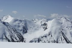 Arête de montagne près d'Almaty, Kazakhstan image libre de droits