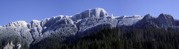 Arête givrée de montagne Images libres de droits