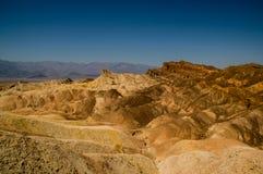Arêtes érodées en parc national de Death Valley photographie stock libre de droits