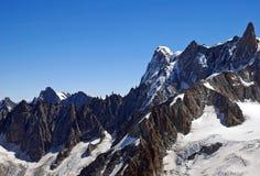 Arêtes d'Alpes Photographie stock libre de droits