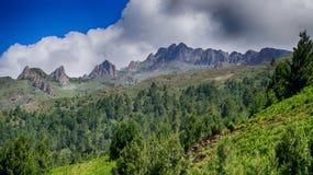 Arêtes de montagne images libres de droits