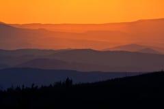Arêtes de montagne Image stock