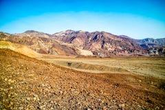 Arêtes de montagne en parc national de Death Valley image libre de droits