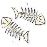 Arêtes de poisson Photos libres de droits
