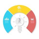 Żarówka biznes infographic Szablon dla prezentaci, diagram, wykres Fotografia Royalty Free