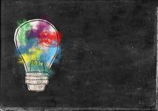 Żarówka, innowacja, pomysły, cele zdjęcie royalty free