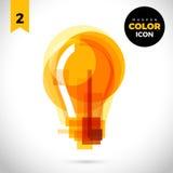 Żarówka koloru Nowożytna ikona dla sieci Nowy kreatywnie projekta symbol Zdjęcie Stock