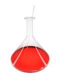 Żarówka szkło dla analizy z czerwonym cieczem ilustracja wektor