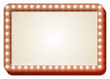 Żarówki czerwieni znak Obrazy Royalty Free