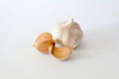 Żarówki garlics na białym tle Fotografia Royalty Free
