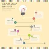 Żarówki i drutu infographics projekt royalty ilustracja