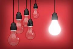 Żarówki innowacja 3d Obraz Stock