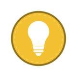 Żarówki lekkiej energii elektryczności ikony żółty okrąg royalty ilustracja