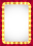 Żarówki markizy rama royalty ilustracja