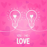 Żarówki miłość Zdjęcie Royalty Free