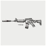 AR-15 также вектор иллюстрации притяжки corel Стоковые Фотографии RF