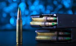 AR-15弹药和杂志 库存图片