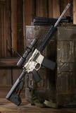 Ar15步枪 库存图片