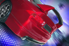 Ð¡ar. Back view of red car stock image