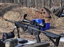 AR15 AR 15 Atakują Armatniego karabin 5 56 kaliber fotografia royalty free