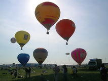 Ar-balões no airshow de MAKS Fotos de Stock Royalty Free