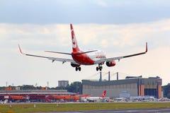 Ar Berlim Boeing 737 Imagens de Stock Royalty Free
