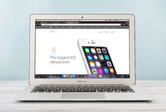 Ar cedo 2014 de Apple MacBook Imagem de Stock