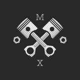¡AR de Ð o plantilla del logotipo del taller de la bici Foto de archivo