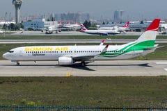 Ar de P4-TAJ Somon, Boeing 737 - 900 Foto de Stock Royalty Free