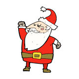 ar de perfuração de Papai Noel dos desenhos animados cômicos Imagens de Stock