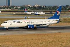 Ar de SU-GCP Egito, Boeing 737-866 Fotografia de Stock