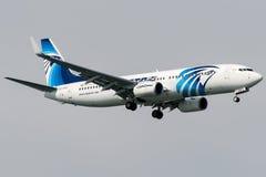 Ar de SU-GEG Egito, Boeing 737 - 800 Fotografia de Stock