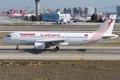 Ar de TS-IMT Tunes, Airbus A320 - 200 Fotografia de Stock