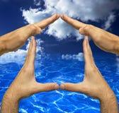 Ar e cofre forte e som da água Imagens de Stock