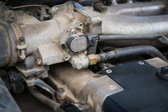 Сar engine, detail view. Stock Photo