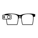 Ar glasses smart entertaiment wearable. Vector illustration eps 10 Royalty Free Stock Photos
