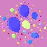 Ar Iofshs para o feriado e o partido ilustração do vetor
