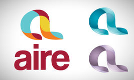 Ar - A - logotipo Imagens de Stock Royalty Free